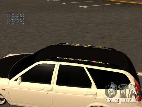 Lada Priora berline avec hayon arrière pour GTA San Andreas vue de droite