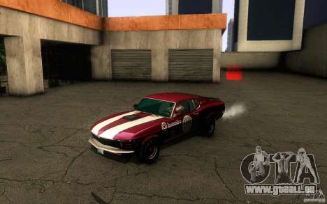 Ford Mustang Boss 302 für GTA San Andreas obere Ansicht