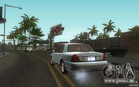Ford Crown Victoria pour GTA San Andreas sur la vue arrière gauche