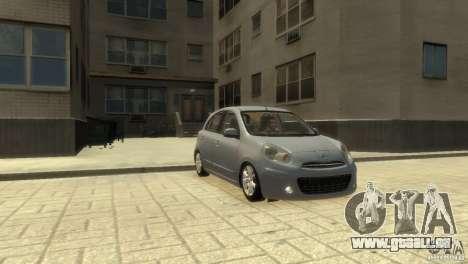 Nissan Micra pour GTA 4 Vue arrière de la gauche