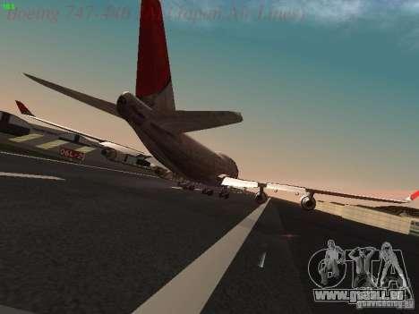 Boeing 747-446 Japan-Airlines für GTA San Andreas rechten Ansicht