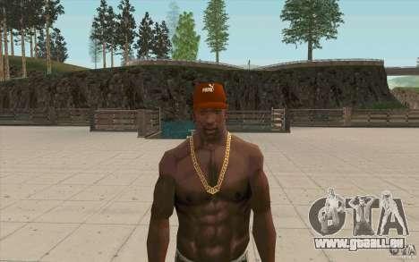 PUMA Cap für GTA San Andreas dritten Screenshot