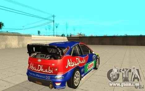 2 œuvres de peinture pour la Ford Focus RS WRC 0 pour GTA San Andreas laissé vue