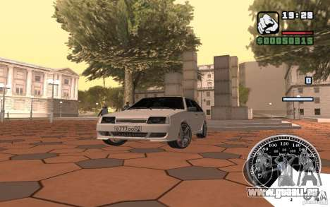 VAZ 2109 leichte Tuning für GTA San Andreas Innenansicht