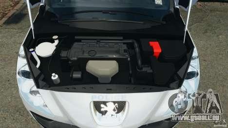 Peugeot 308 GTi 2011 Police v1.1 für GTA 4 obere Ansicht