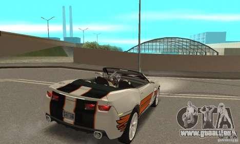 Chevrolet Camaro Concept 2007 pour GTA San Andreas salon