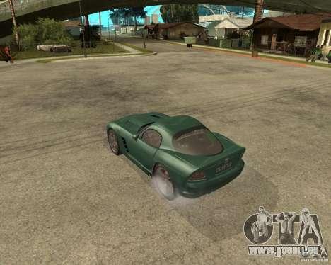 Dodge Viper Srt 10 pour GTA San Andreas laissé vue