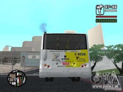 Induscar Caio Piccolo pour GTA San Andreas sur la vue arrière gauche