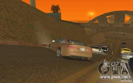 Audi RS6 TT Black Revel pour GTA San Andreas sur la vue arrière gauche
