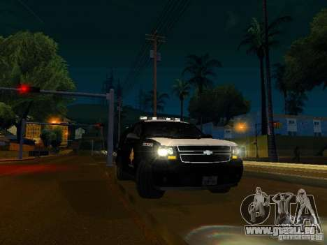 Chevrolet Tahoe Texas Highway Patrol pour GTA San Andreas