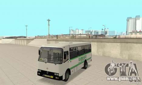 Bogdan A091 pour GTA San Andreas vue intérieure