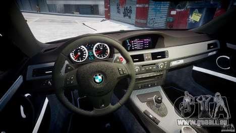 BMW M3 Hamann E92 pour GTA 4 Vue arrière
