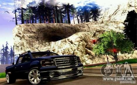 GMC Sierra 2011 für GTA San Andreas Rückansicht