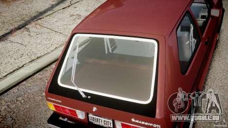 Volkswagen Rabbit 1986 pour GTA 4 est un côté