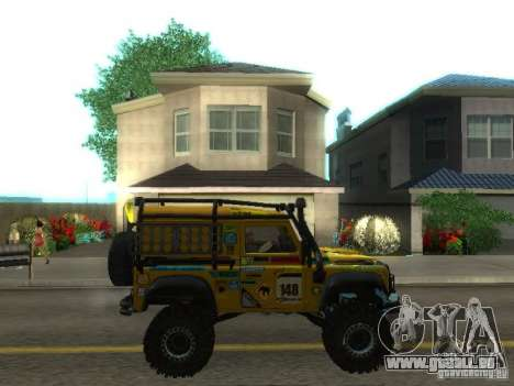 Land Rover Defender Off-Road für GTA San Andreas Innenansicht