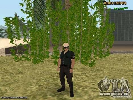SAPD skins pour GTA San Andreas cinquième écran
