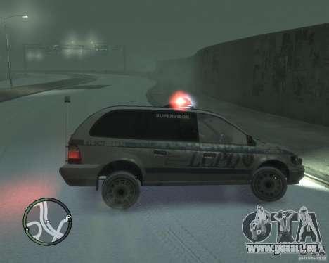 LCPD Minivan pour GTA 4 est une gauche