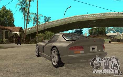 Dodge Viper GTS pour GTA San Andreas sur la vue arrière gauche