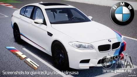 BMW M5 F10 2012 M Stripes pour GTA 4