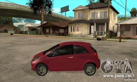 Toyota Yaris pour GTA San Andreas laissé vue