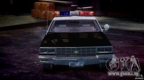 Chevrolet Impala Police 1983 [Final] für GTA 4 Innen