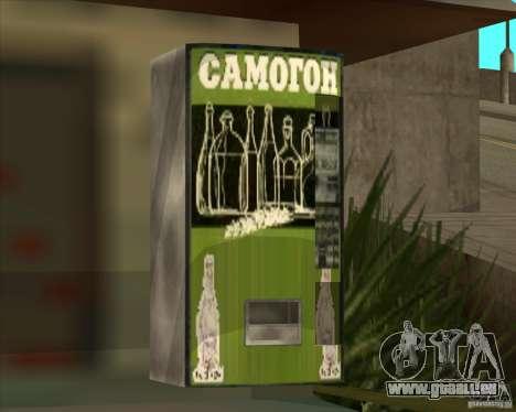 Machine avec de la vodka pour GTA San Andreas deuxième écran