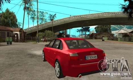 Audi S4 2004 pour GTA San Andreas sur la vue arrière gauche