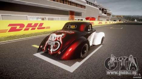 Willys Americar 1941 pour GTA 4 Vue arrière de la gauche