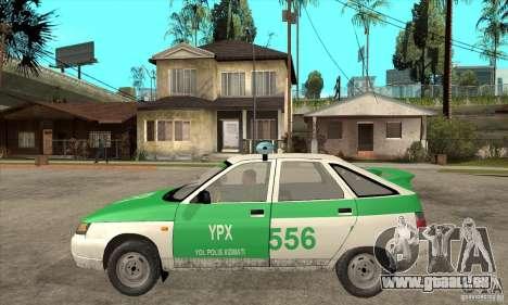 VAZ-2112 YPX Polizei für GTA San Andreas linke Ansicht