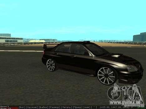 Subaru Impreza WRX für GTA San Andreas linke Ansicht