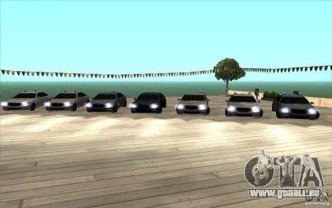 Mercedes-Benz S65 AMG mit blinkenden Lichtern für GTA San Andreas zurück linke Ansicht