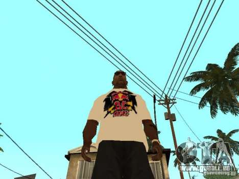 T Shirt Red Bull für GTA San Andreas dritten Screenshot