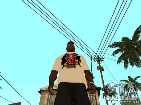 T Shirt Red Bull pour GTA San Andreas troisième écran