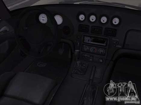 Dodge Viper pour GTA San Andreas vue de dessus
