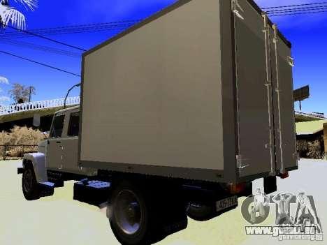 GAZ 3309 Huntsman pour GTA San Andreas sur la vue arrière gauche