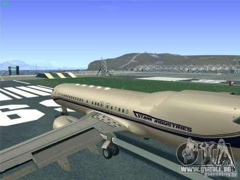 Boeing 737 Iron Man Bussines Jet für GTA San Andreas Innenansicht