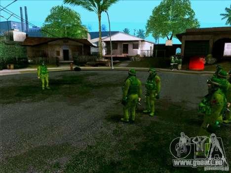Camouflage forêt Morpeh pour GTA San Andreas quatrième écran