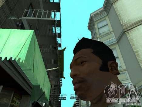 LE NOUVEAU VISAGE DE CJ pour GTA San Andreas quatrième écran