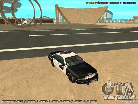 Chevrolet Caprice 1991 LVPD für GTA San Andreas Innenansicht