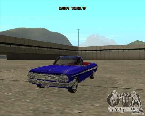 Chevrolet Impala SS 1961 pour GTA San Andreas vue de droite
