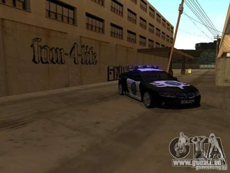 Pontiac GTO Police pour GTA San Andreas laissé vue