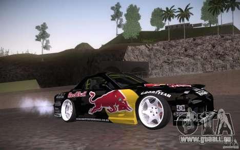 Mazda RX7 Madmikes Redbull für GTA San Andreas Innenansicht