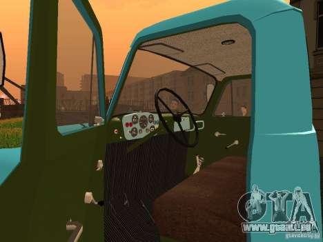 GAZ 53 Milch tanker für GTA San Andreas Rückansicht