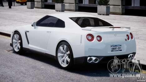 Nissan Skyline GT-R R35 pour GTA 4 Vue arrière de la gauche