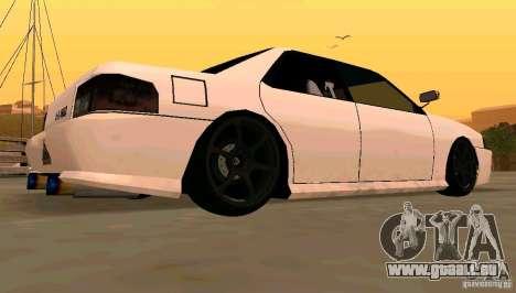 New Sultan v1.5 pour GTA San Andreas vue arrière