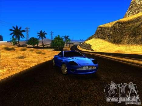 Aston Martin V12 Vanquish V1.0 pour GTA San Andreas sur la vue arrière gauche