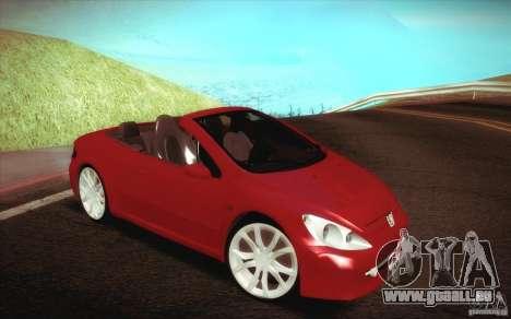 Peugeot 307CC BMS Edition pour les ordinateurs p pour GTA San Andreas vue intérieure
