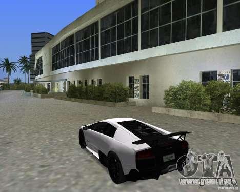 Lamborghini Murcielago LP670-4 SV pour une vue GTA Vice City de la droite