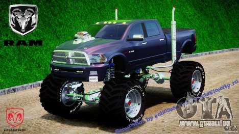Dodge Ram 3500 2010 Monster Bigfut für GTA 4