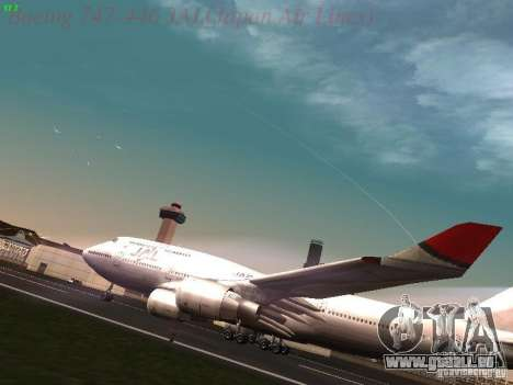Boeing 747-446 Japan-Airlines für GTA San Andreas linke Ansicht